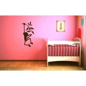 Monkey Vinyl Wall Decal Sticker Graphic By LKS Trading Post Baby