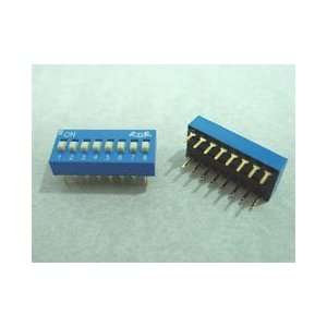 Dip Switch 6 Positions Gold Plated Contacts Top Actuated