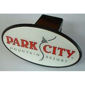 Park City, Utah Mountain Ski Resort Trailer Hitch Cover Plug for Cars