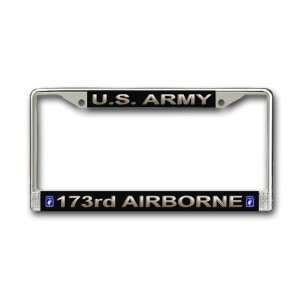 US Army 173rd Airborne Division License Plate Frame