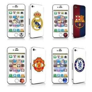 Iphone 4 Soccer Real Madrid, Barcelona, Manchaster Utd