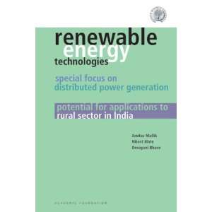 Renewable Energy Technologies: Special Focus on Distributed Power