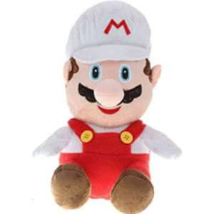Super Mario Bros. Fire Mario   White   Backpack Plush Toys & Games