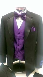 Tuxedo Jacket Tuxedo Pants Vest Shirt Bow tie Handkerchief