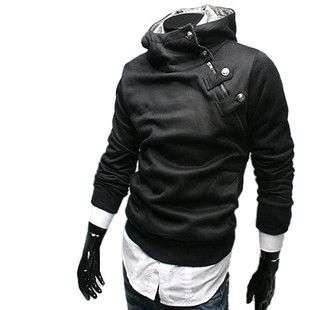 2011 Mens Slim Fit hoody Jacket Coat Sweatshirt 0804