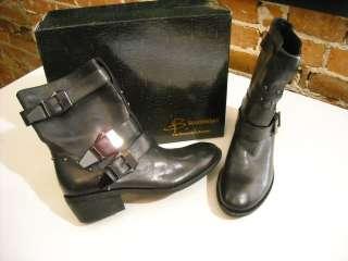 COOL B Makowsky BLACK Leather Faith BUCKLE BOOT 8.5 NEW