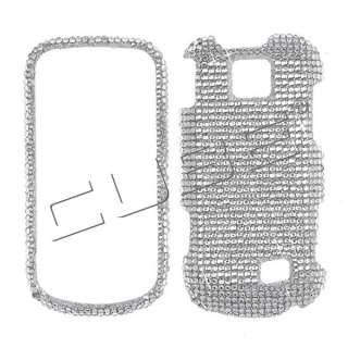 Intercept M910 Diamond Bling Case Cover  Silver 021 Crystal Rhinest