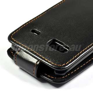 FLIP LEATHER CASE COVER POUCH FOR HTC DESIRE Z BLACK