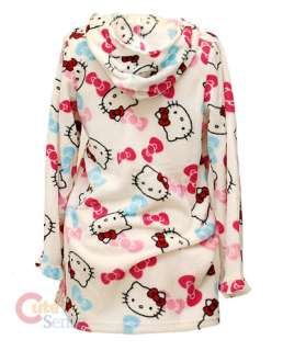 Hello Kitty Robe Hoody Bath Swim Cover  ZipperedPINK