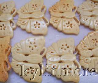 8SE08003a 30x45mm Ox bone Carved Butterfly Beads 15