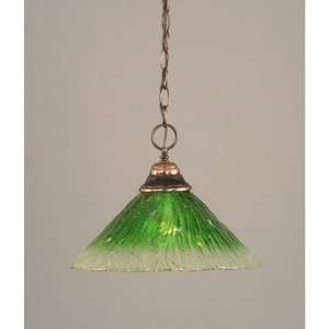 Toltec Lighting 10 447 Any Chain Pendant with Kiwi Green Crystal Glass