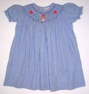 Size 1 Year Hand Smocked Raggedy Ann Dress