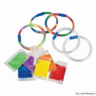 12 Sand Art Bracelets   Kids Craft Kit with funnel