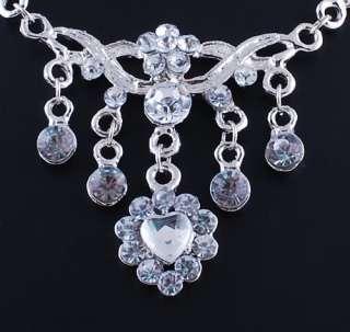 heart mix 6set imitate crystal necklace jewelry set free W19745Y