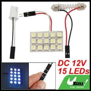 SMD 5050 1x Ultra White Car Interior Light Panel 15 LED