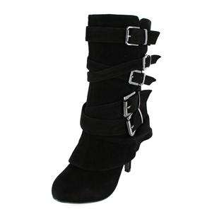 Mid Calf Boots with Multi Straps4 inch heel0 inch platform