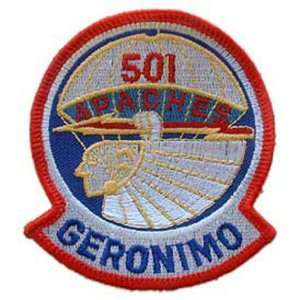 U.S. Army 501st Airborne Patch Red & White 3 Patio, Lawn