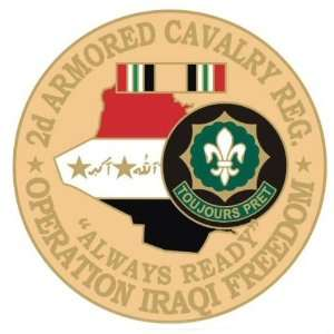 2nd Armored Cavalry Regiment Operation Iraqi Freedom Pin
