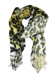 Gorgeous Black / White / Gold Animal Print Neck Scarf