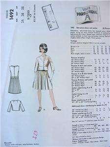 Heim Vtg. VOGUE PARIS Dress & Jacket Sewing Pattern 1492 UNCUT size 14