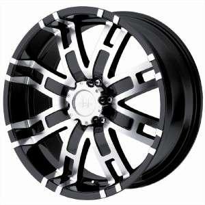 22 inch HELO HE835 black wheels Ford F250 F350 8x170