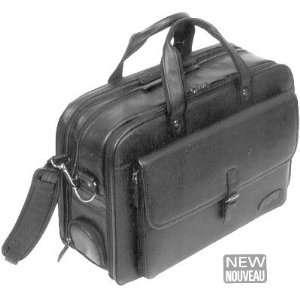 Bugatti Black Leather Briefcase Laptop