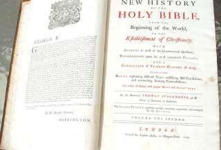 1744 BRITISH LARGE ILLUSTRATED HOLY BIBLE book