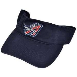 MLB Los Angeles Anaheim Angels Navy Blue Baseball Visor Hat Cap Cotton