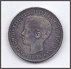 1895 PUERTO RICO 1 PESO COIN UNCIRCULATED w MINT LUSTER, SUPERB