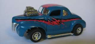 Willys, Chrome wheels, HOT RODS, 1940 FORD, Tyco slot car, |