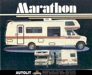 1984 Marathon Motorhome RV Chevrolet Ford Brochure