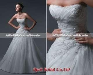Beading Applique Elegant BRIDAL WEDDING GOWNS/Dresses