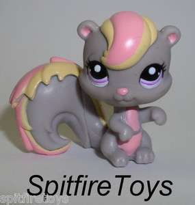 LITTLEST PET SHOP LPS #2112 SQUIRREL GRAY PINK FREE S&H