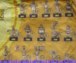 14 Burger King Toy The Simpsons Gold Talking Figures