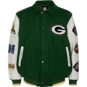Green Bay Packers Full Zip Commemorative Wool Varsity