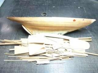 Large Vintage Graupner Wood Model Yacht + Additional Boat |