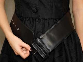 GALLIANO   $660 retro style black COCKTAIL DRESS w/ Belt, brocade, NEW