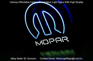 Dodge MOPAR AUTO MOTORS DEALER BEER BAR NEON LIGHT SIGN