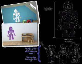 LEGO Skeleton   wall art vinyl sticker decal graphic