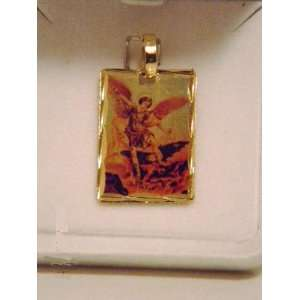 MOTHERS DAY GIFT SAINT MICHAEL ST MICHEAL PENDANT FOR