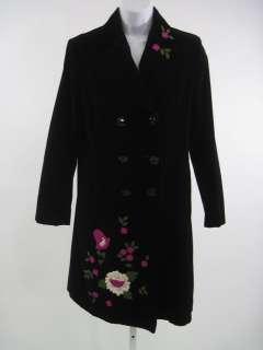 MOSCHINO CHEAP AND CHIC Black Velvet Jacket Coat Sz 6