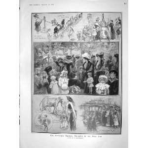 1907 CHRISTMAS MARKET WEST END LONDON KING SWEDEN LORD