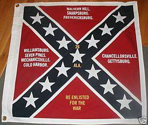 COTTON Confederate FlagCivil War Flag26th Alabama