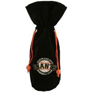 San Francisco Giants Black Velvet Wine Bottle Bag