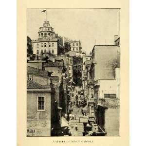 Street Scene Constantinople Istanbul Turkey Ottoman Vendors Arabic