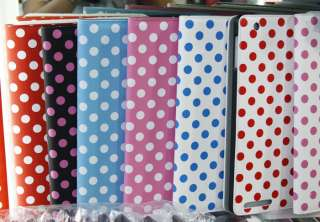 Polka Dot Leather Stand Cover Case For iPad 2 2th 076783016996