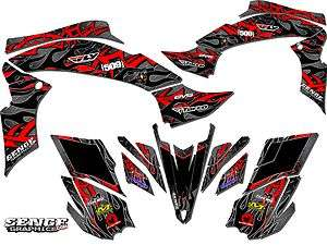 RAPTOR660 YAMAHA GRAPHICS KIT DECO STICKERS ATV QUAD 4 WHEELER FOUR