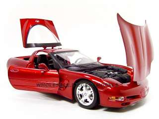 CORVETTE C5 COUPE BURGUNDY 118 DIECAST CAR MODEL BY BBURAGO