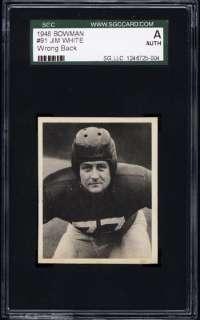 1948 Bowman #91 Jim White SGC Authentic Wrong Back