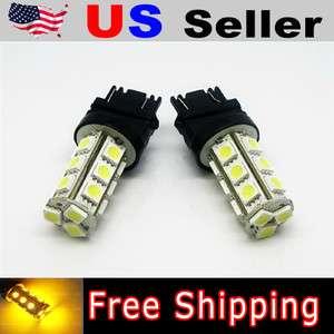Amber 18 SMD 3156 3157 3457 LED Brake Tail Lights Bulbs